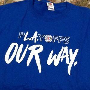 LA Clippers t-shirt Sz. XL Royal